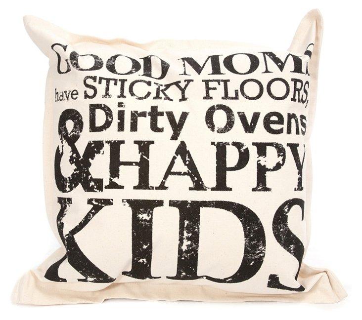 Good Moms 18x18 Pillow, Natural