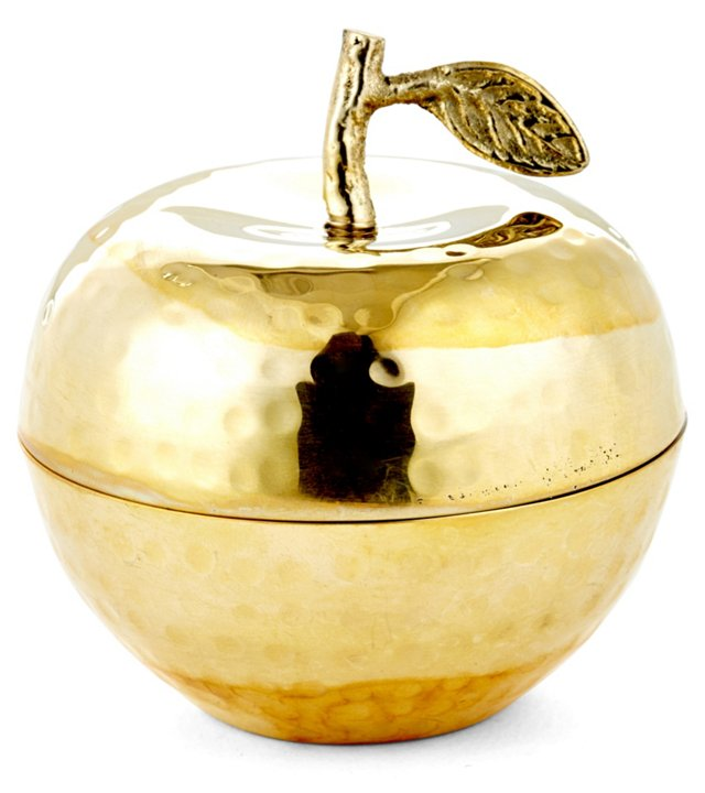 """3"""" Delice Apple Candle, Gold"""