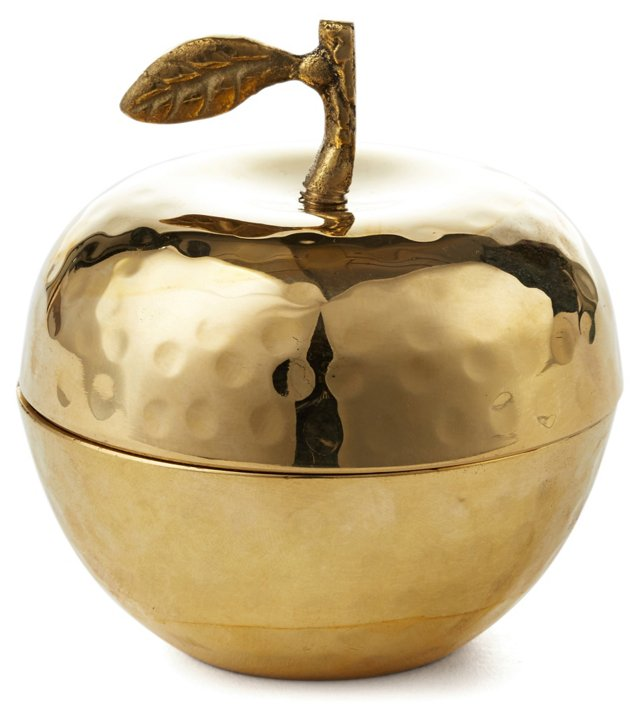 "4"" Delice Apple Candle, Gold"