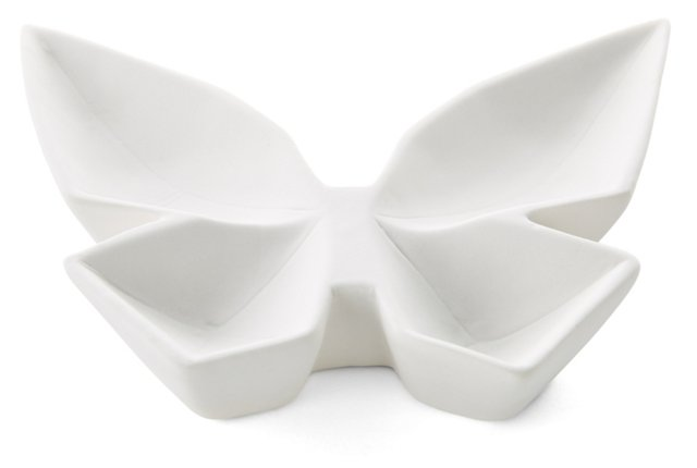 Pair of Butterfly Dishes, White