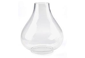 "13"" Glass Dome Hurricane"