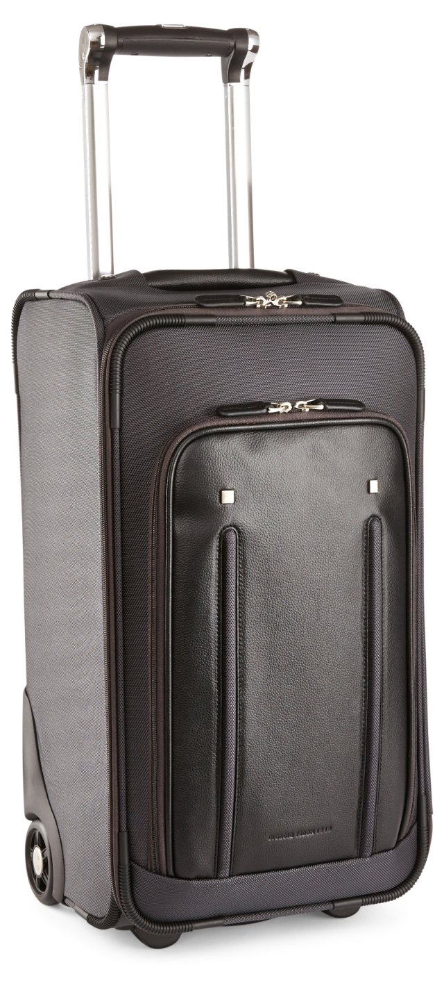 "21"" Nylon/Leather Carry-On, Gray/Black"