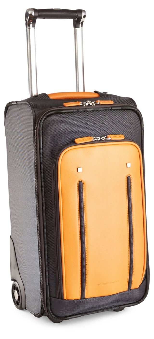 "21"" Nylon/Leather Carry-On, Marigold"