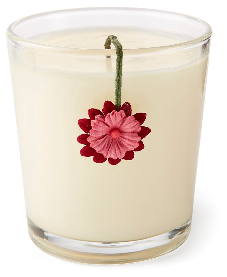 12 oz  Flower Wick Candle, Provence