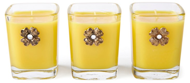 S/3, 2 oz Votives, Sunflower