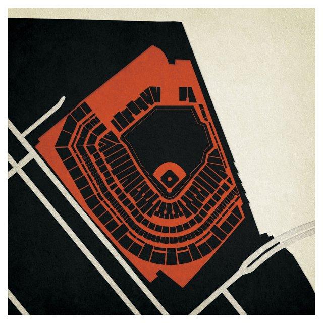 AT&T Park Map, San Francisco