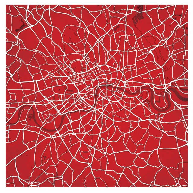 Map of London, England