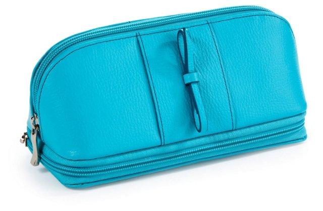 Rachel Cosmetic/Jewelry Case, Turquoise
