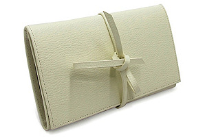Leather Jewelry Envelope, Cream