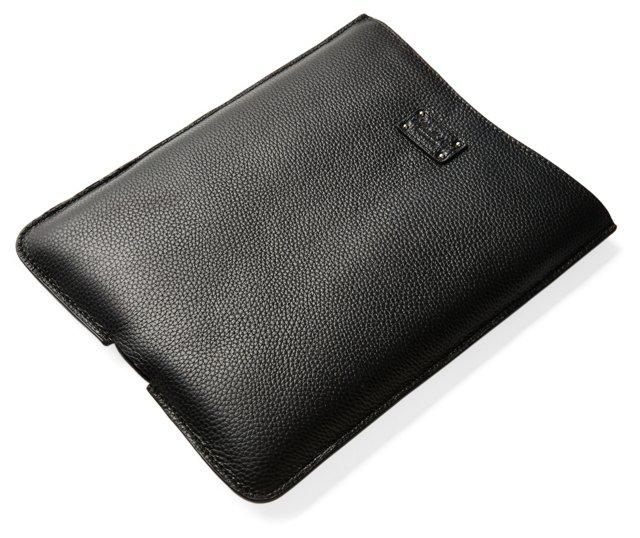 Leather iPad Holder, Black