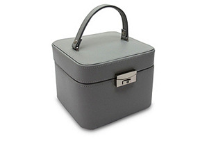 Emma Small Jewelry Box, Gray