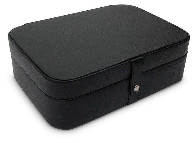 Kimberly Leather Jewelry Box, Black