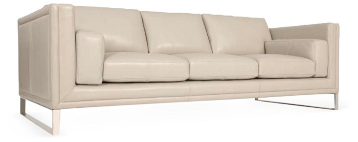 "Miranda 92"" Sofa, Light Gray"