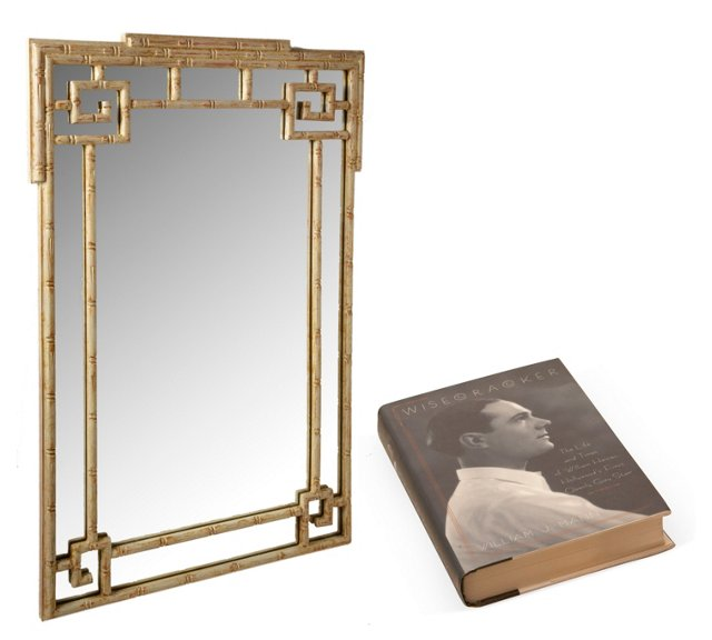 Billy Haines Bamboo Mirror & Book
