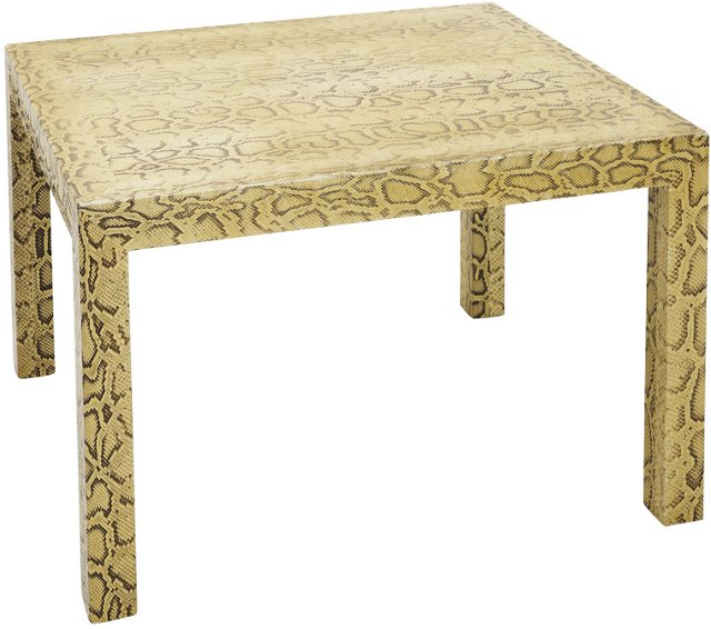 Yellow Python Parsons-Style Low Table