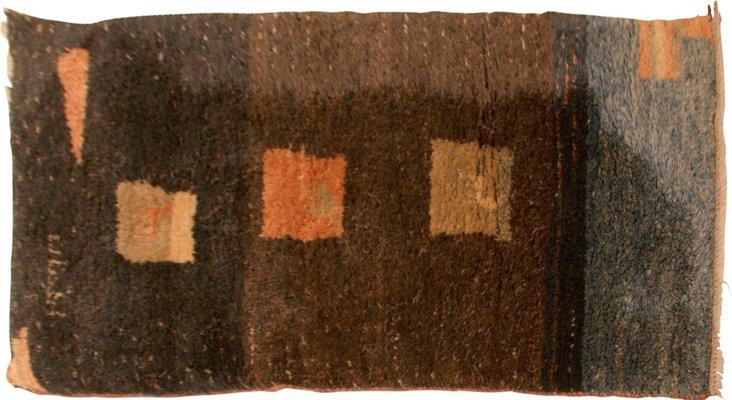 "Gabbeh Prayer Wool Rug, 4'2"" x 2'3"""