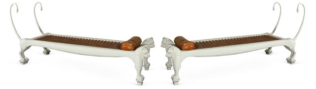 Lion Daybeds, Pair
