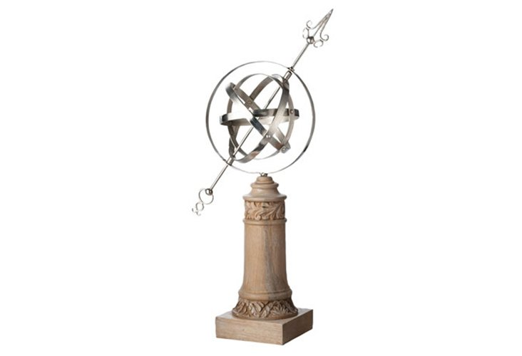 Carved Wood Armillary