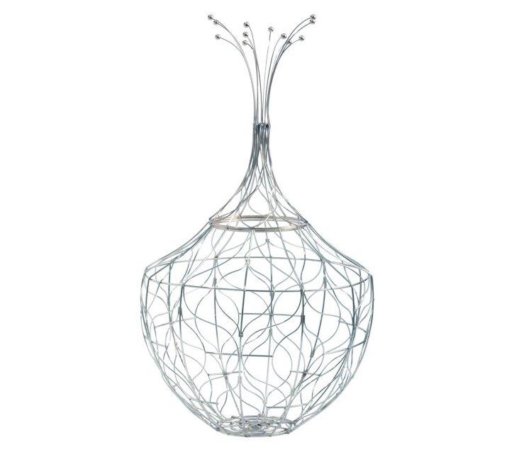 Silver Piper Wire Basket, Small