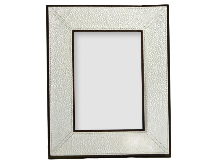 Faux Shagreen Leather Frame, 5x7