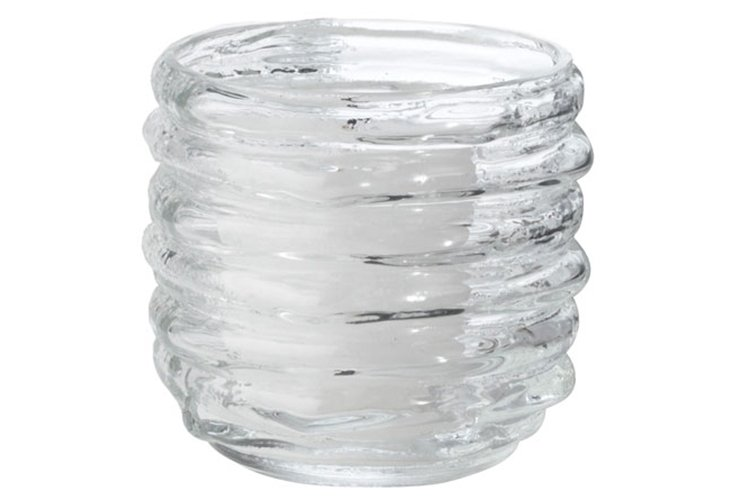 S/2 Clear Ribbed Votive, Small