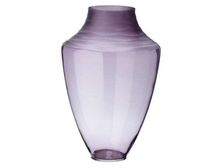 Spin Cut Plum Vase, Purple