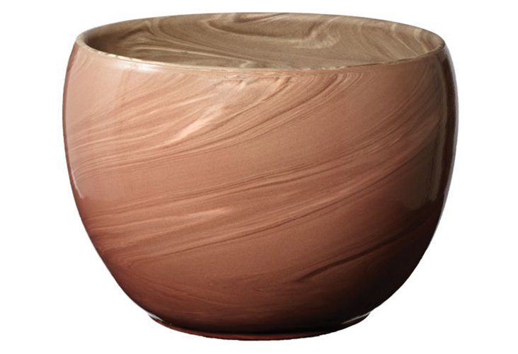 """14"""" Heartwood Red Swirled Clay Pot"""