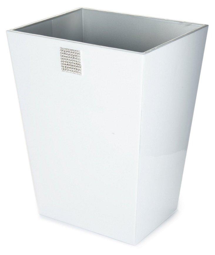 Jensen Wastebasket, White