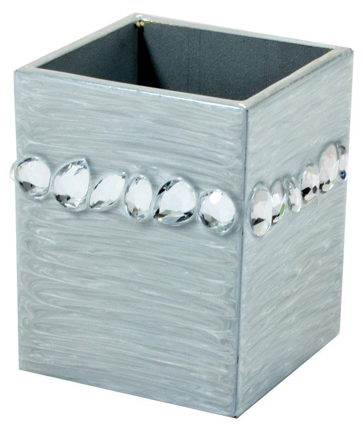 Zsa Zsa Brush Cup, Fine Silver