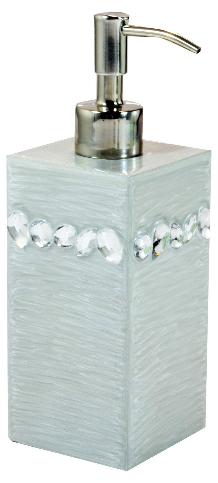 Zsa Zsa Lotion Pump, Fine Silver