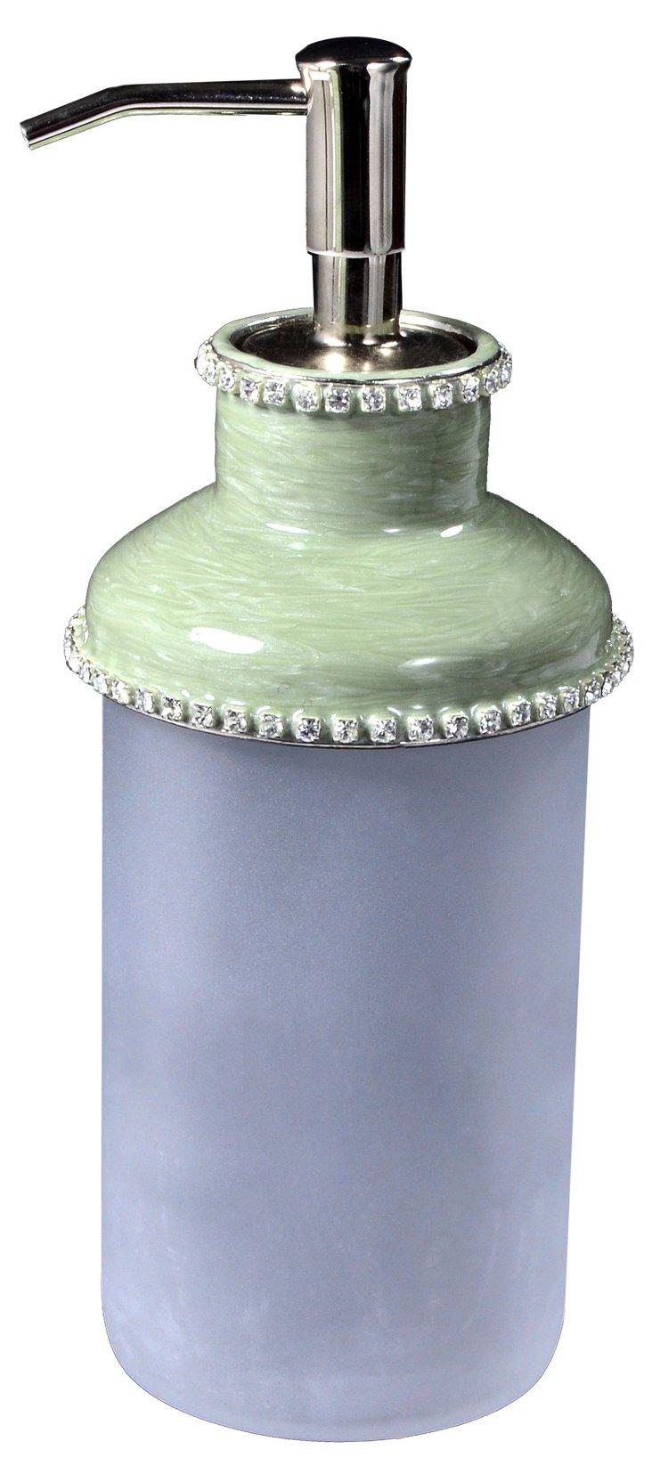 Audrey Lotion Pump, Jade/Crystal