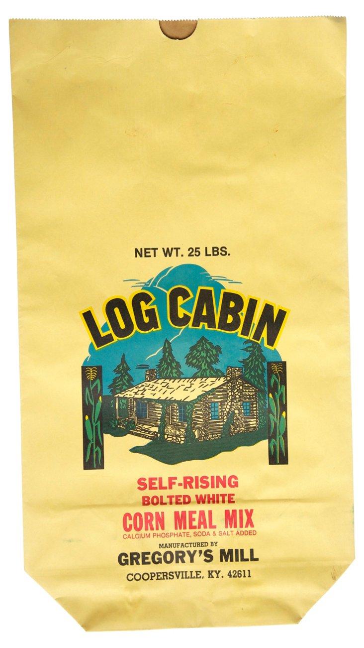 Paper Log Cabin Feed Bag