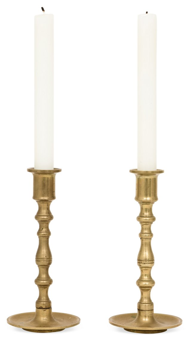 Brass Candlesticks, Pair II