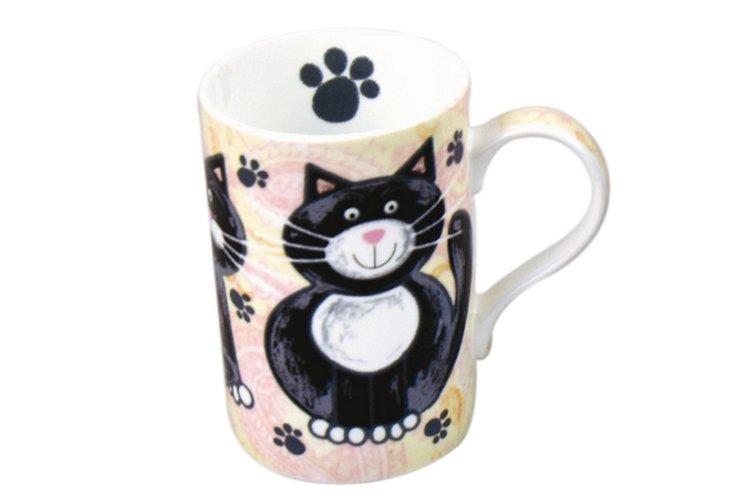 Set of 4 Paisley Cat Mugs