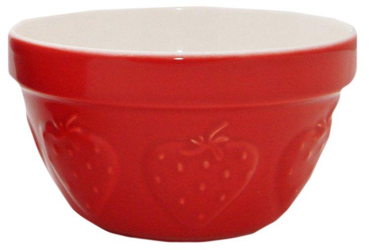 S/2 Ceramic Strawberry Mixing Bowls