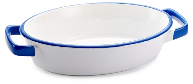 Enamour Oval Baking Dish, Blue