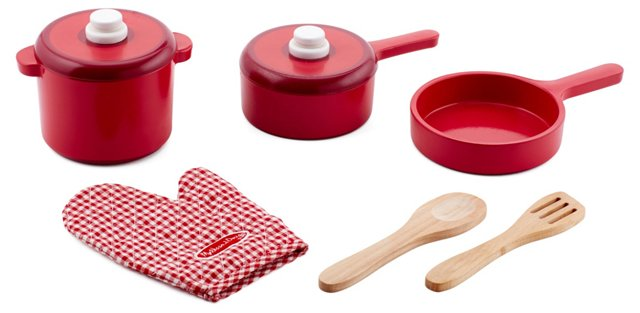 Kitchen Accessory Toy Set, Red