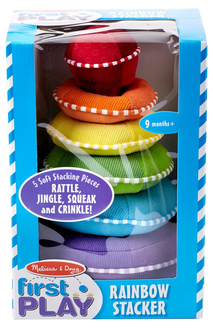 Plush Rainbow Stacker