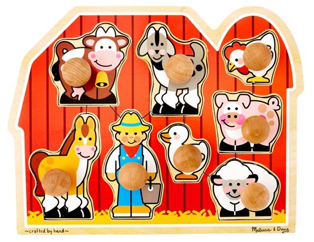 Farm Jumbo Knobs Puzzle