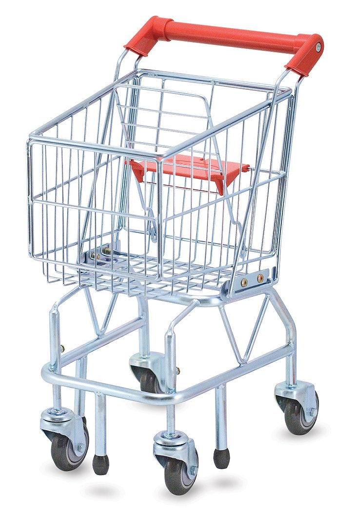 Playtime Shopping Cart, Silver/Red