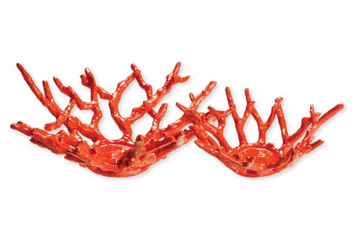 S/2 Coral Bowls, Red