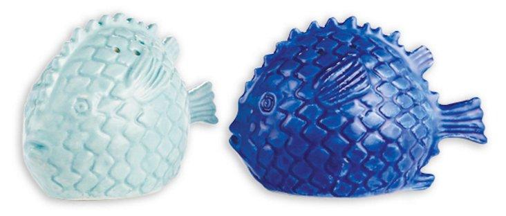 Assorted Fish Shaker Set, Cobalt/Aqua