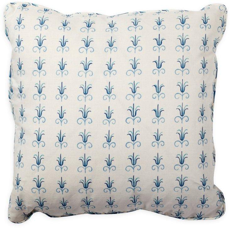 Julia Double Blue Pillow