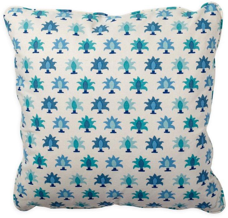 Rohet Flora Blue Pillow
