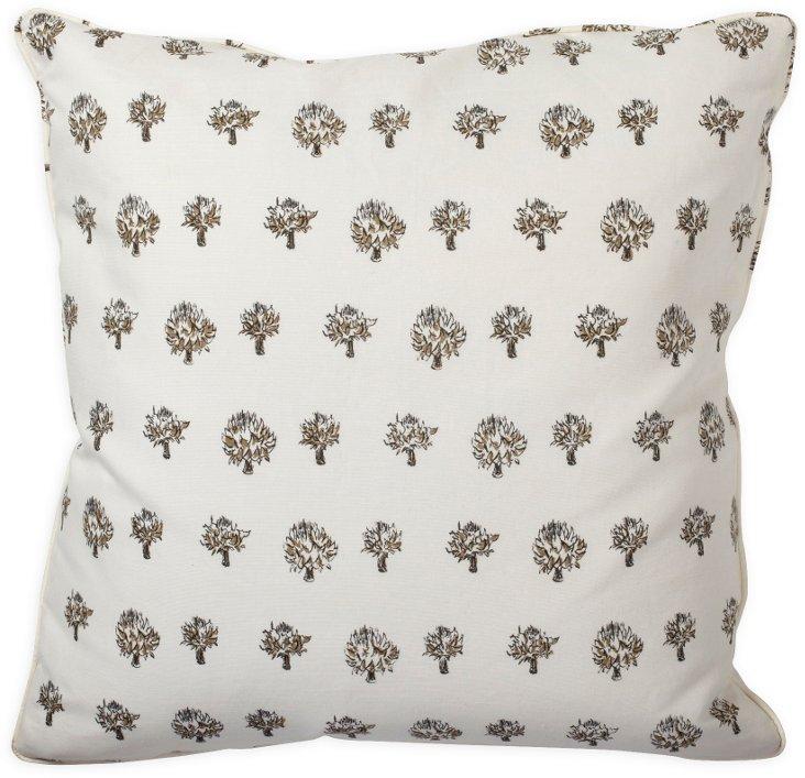 Dried Artichoke Taupe Pillow