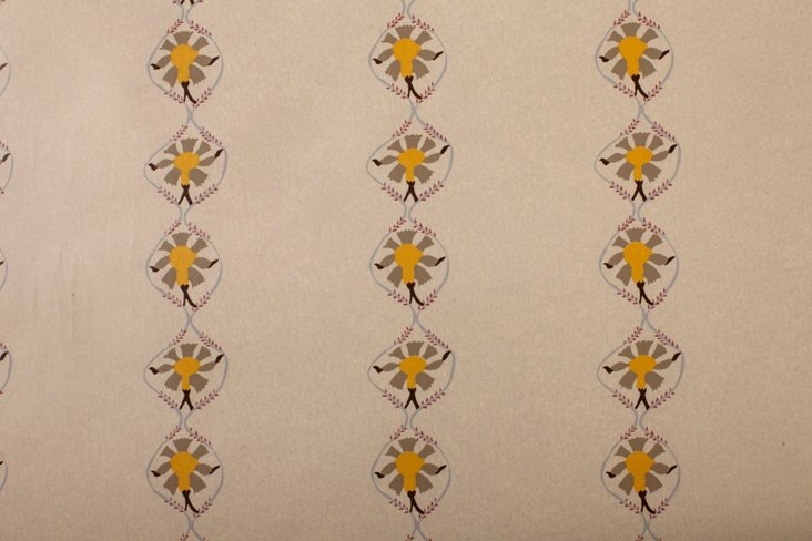 Hand-Screened Samode Taupe Wallpaper