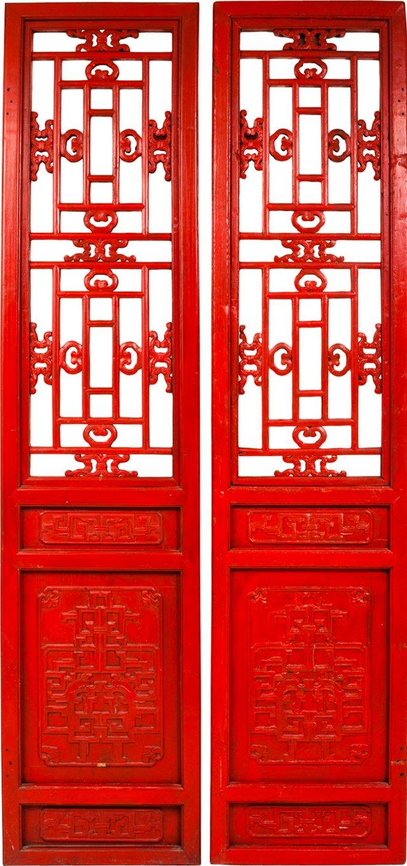 Chinese Temple Doors, Pair
