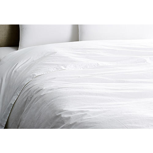 Washed Sateen Duvet Cover, White
