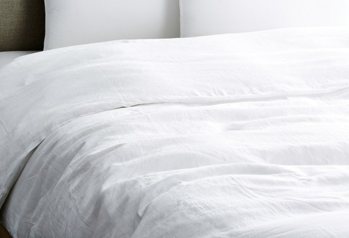 Vintage Linen Duvet Cover White Bed Bath Textiles By Category One Kings Lane