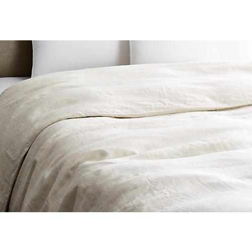 Vintage Linen Duvet Cover, Loomstate